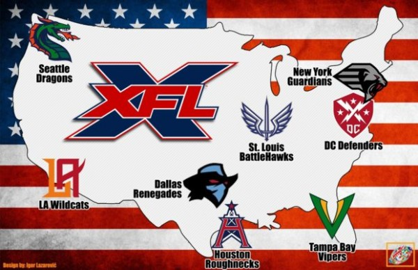 Les équipes XFL