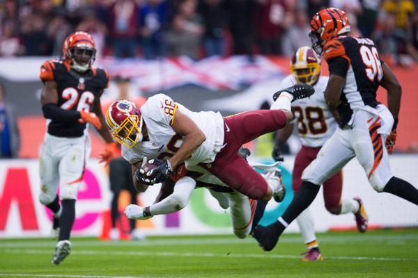 Jordan Reed auteur d'un superbe match pour les Redskins