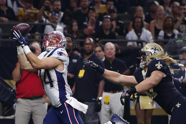 Burkhead pour le touchdown