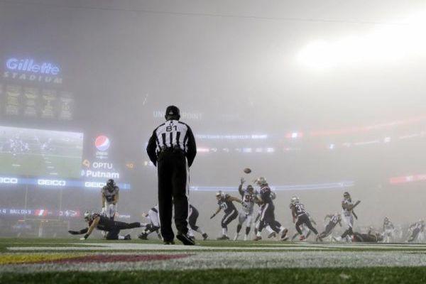 Les Patriots ont contrôlé le match joué dans des conditions...particulières.