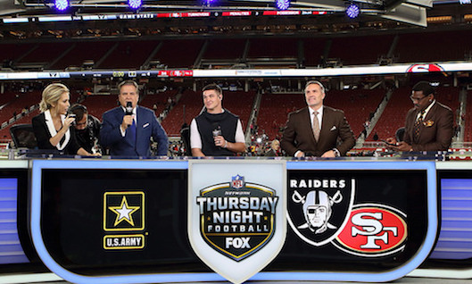 Kurt Warner et Michael Irvin sur le plateau du Thursday Night