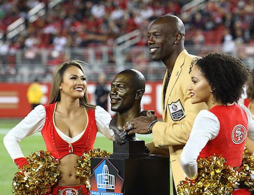 Terrell Owens reçoit sa bague du Hall of Fame