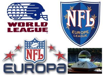 Les logos successifs de la NFL Europa