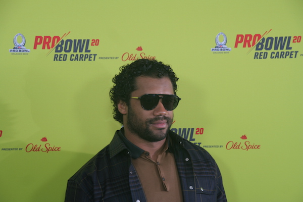 Russell Wilson sur le tapis rouge