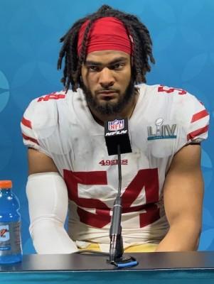 Mine des mauvais jours pour Fred Warner après la défaite des 49ers au Super Bowl LIV