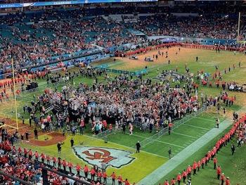 Les Chiefs célèbrent la victoire au Super Bowl LIV