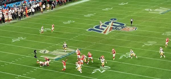 La dernière passe de Patrick Mahomes au Super Bowl LIV