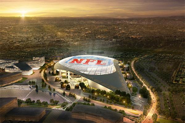 Le futur stade des Rams à Inglewood (CA)