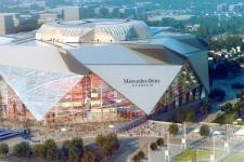 Le Mercedes-Benz Stadium d'Atlanta