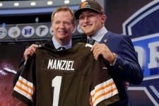 La star médiatique de la Draft 2014, le QB Johnny Manziel, drafté par Cleveland