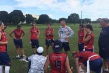 Dernier debrieffing des coachs pour les Françaises