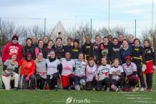 Les 29 participantes à ce premier rassemblement flag féminin