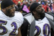 Ray Lewis (52) et Ed Reed (20)