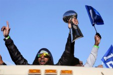 Richard Sherman lors de la parade à Seattle