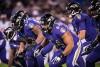 La ligne offensive des Ravens